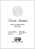 SPE Membership Certificate - Available to Members Only