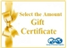 Select the Amount Gift Certificate